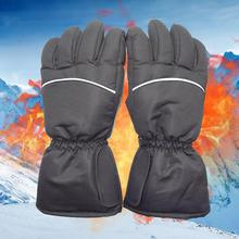 1 Pair Winter USB Hand Warmer Cycling Motorcycle Bicycle Ski Gloves Electric Thermal Rechargeable Battery Heated