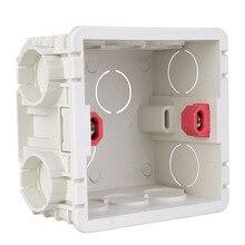 86 Тип Монтажная коробка красный/белый 2 цвета сплайсинга Регулируемый переключатель кассета 86 мм* 85 мм* 50 мм розетки коробка применима к внутренней стене