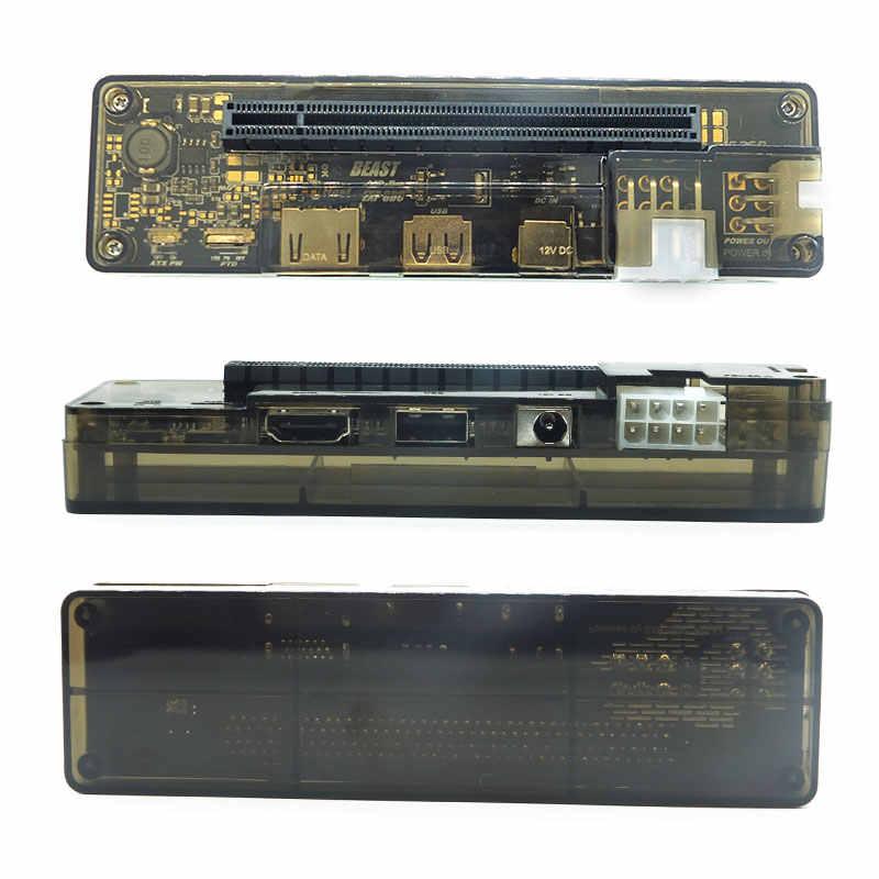 Placa de vídeo externa pci-e exp gdc, doca para placa gráfica com espaço para laptop (interface expresscard)
