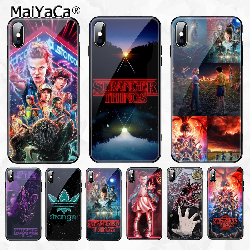 MaiYaCa Stranger Things Christmas Lights DIY Beautiful Phone Accessories Case for Apple iPhone 8 7 6 6S Plus X XS MAX XR Cover