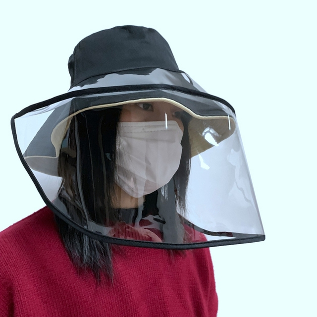 Epidemic Protection Hat Anti Saliva Fog Hat with Face Shield Hat Fisherman's Hat for Women Removable for Men & Women Campi 1