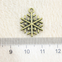 Alibaba Retail Store  1 Piece 18x15mm Snow Flake Charms Reiki Jewelry Crafts