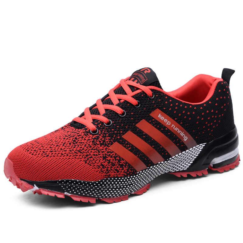 2019 35 46 koşu ayakkabıları erkekler Sneakers artı yaz nefes örgü erkek spor yürüyüş ayakkabısı açık bahar nefes boyutu