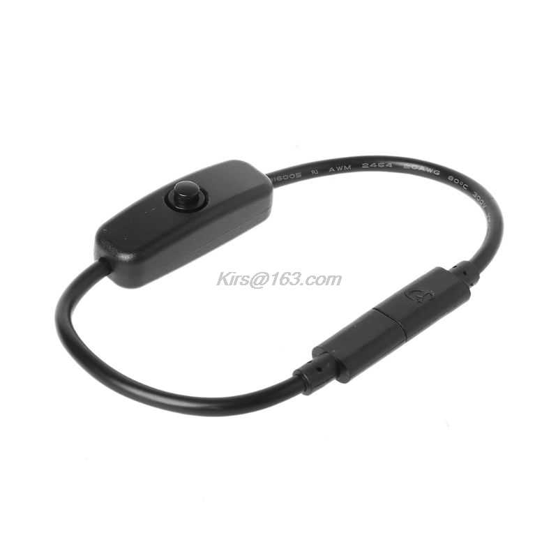 ประเภทC USB-Cชายหญิงสวิทช์ปิดสำหรับRaspberry Pi 4-Droidโทรศัพท์มือถือ 27 ซม.