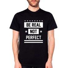 Triditya ht0282# быть настоящим не идеальным футболка мужская