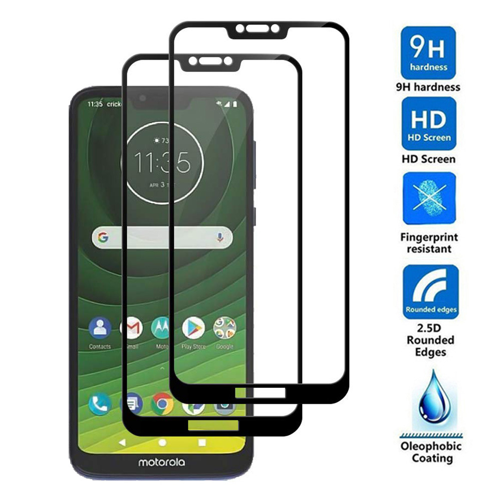 3D Tempered Glass For Motorola Moto G5S Z2 Z3 Z4 G7 Play One Vision Screen Protector For Moto G7 Power G7 Plus Protective Film(China)