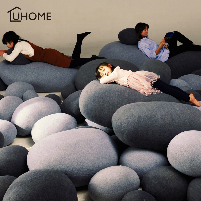 Creative 3D Cobblestone Pillow Stuffed Throw Cushion Bed Sofa Seat Decorative  Cushion Throw Pillow Kids Plush Toy