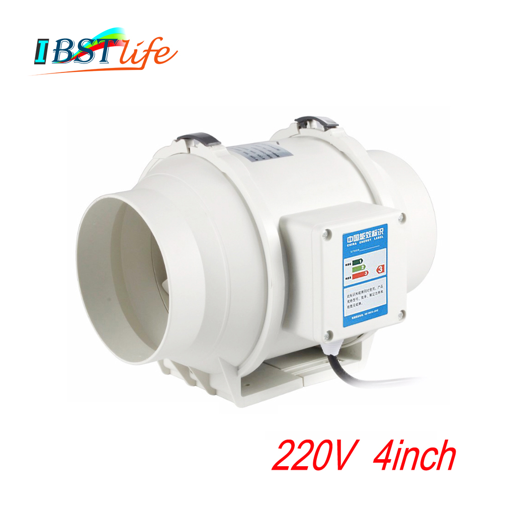 220V 4inch Silent Wall Extractor Exhaust Duct Ventilation Fan Air Blower Window Ventilator Vent Kitchen Bathrooms Bedroom Home