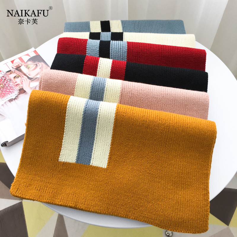 Nye Kafu 2019 Autumn And Winter New Style Lengthen Warm Korean-style Versatile Men And Women Students Scarf Manufacturers Wholes