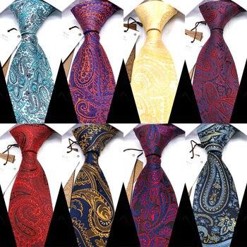 YISHLINE Classic 8CM Width Men Tie Fashion Paisley Business Necktie Blue Mens Ties Red Wedding Corbatas Para Hombre Accessories yishline classic 8cm mens tie plaids paisley man neck ties factory neckwear bridegroom business wedding tie men accessories
