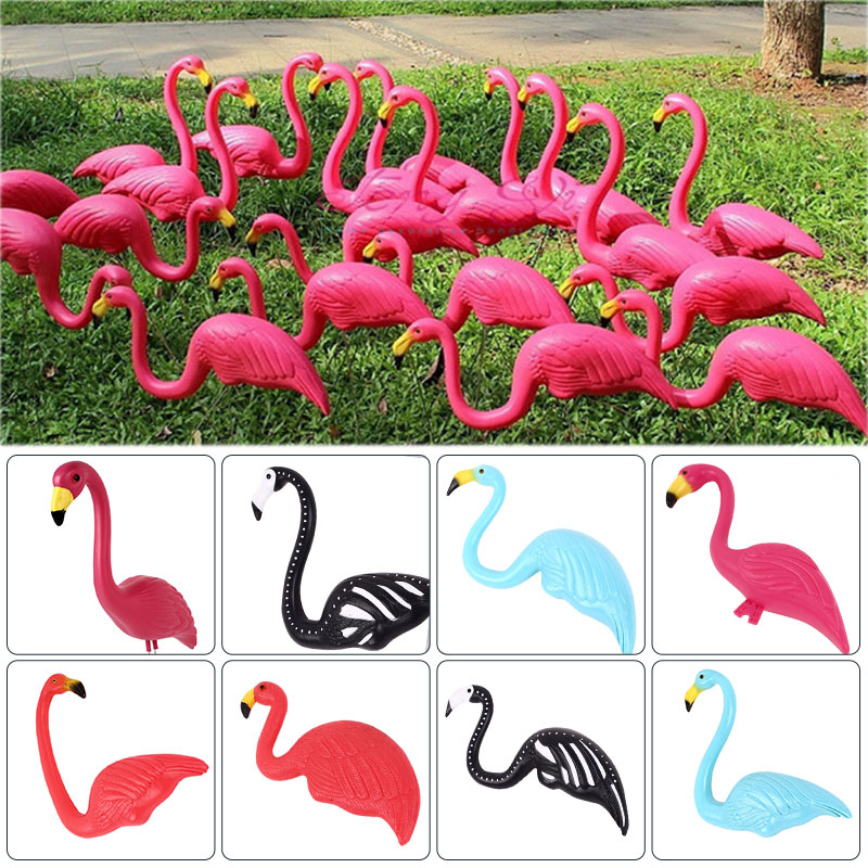 Flamingo Ornament Artificial Flamingo Lawn Decoration Decorate Plastic Beautiful Ornament Garden Ornaments Flamingo Figurines