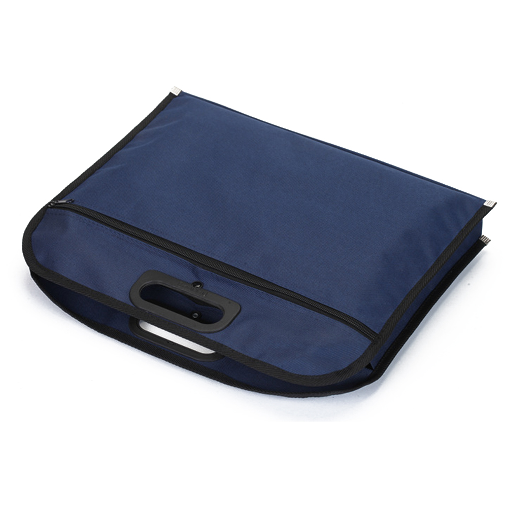 Document Holder Business Travel Handbag Zipper Closure Multipurpose Scratch Proof Blue File Bag Large Capacity Oxford Cloth