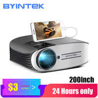 70% off BYINTEK LED Projector M7 ,200inch Home Theater Beamer,LED Proyector for Iphone SmartPhone Full HD 1080P 3D 4K