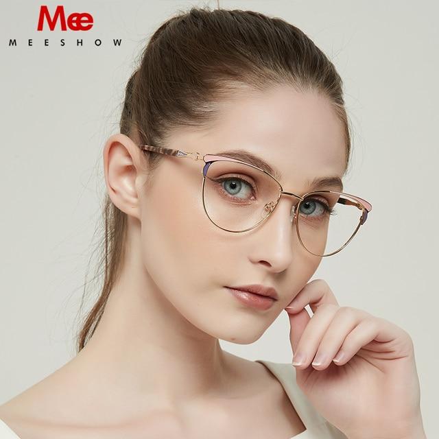 MEESHOW Glasses Frame Brand women cat eyes Prescription Eyeglasses Female Myopia Optical Frames Clear Spectacles Eyewear 2020