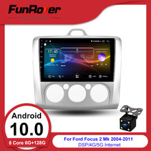 FUNROVER octa core android 10.0 car dvd multimedia vedio player Per Ford Focus radio di navigazione gps stereo 6G 128GB DSP 2.5D + IPS(China)