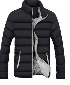 Winter Cotton-padded Clothes Men's Jacket down Feather Cotton-padded Clothes New Style Korean-style Slim Fit Cotton-padded фото