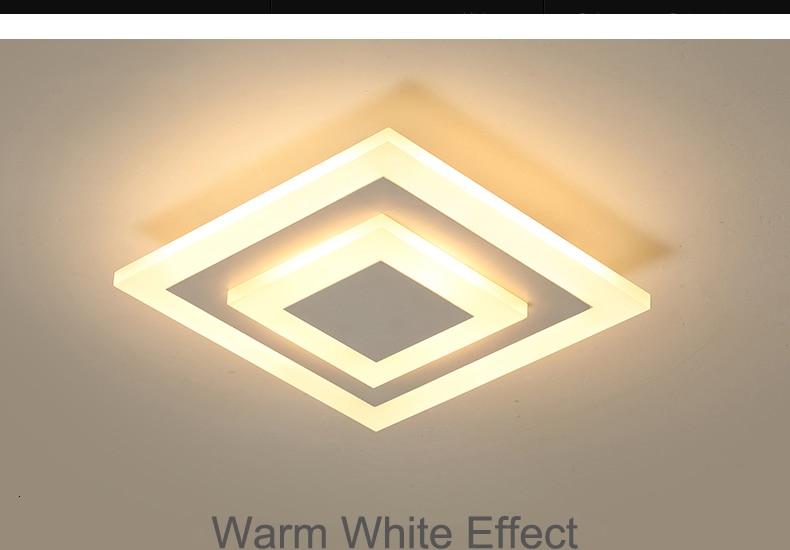 H34ba4be012e3475f8c758dcaf2859c7eE Modern ceiling lights 12w for hallway balcony corridor Coffe white light lamps bedroom luminaria teto acrylic lamparas de techo