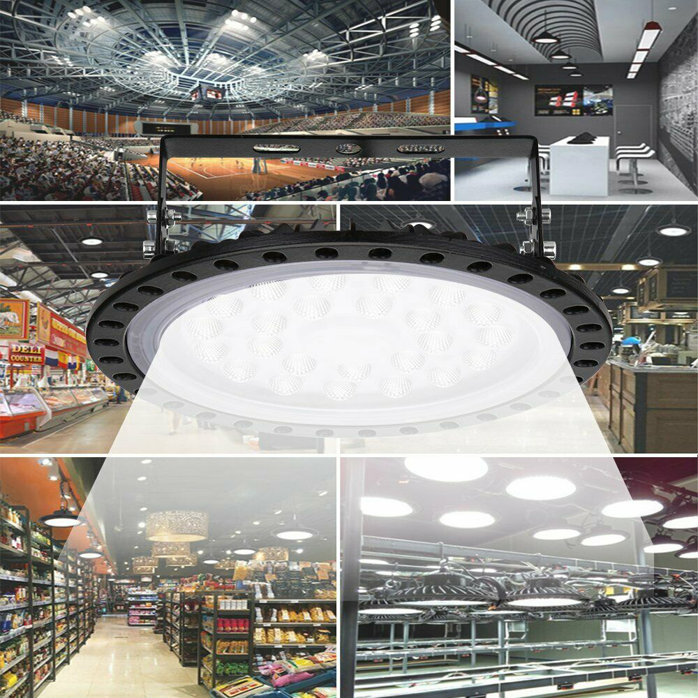 Super Bright 100W 50W UFO LED High Bay Light Garage Lamp 220V Waterproof IP65 Industrial Lighting For Warehouses