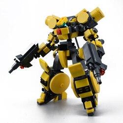 Blocos de construção de mech, brinquedos para crianças, armadura, robôs, figura de anime modelo 14cm, figura de ação, 300 peças bonecas, bonecas