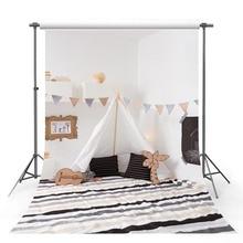 Avezano Interior Corner Photography Background White Tent Wall Stripe Carpet Baby Portrait Backdrop Photo Studio Photophone Prop