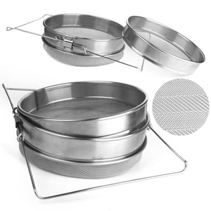 304 Stainless Steel Honey Strainer, 2 Layers High Efficiency Honey Filters, Double Honey Strainers Beekeeping Tool(China)