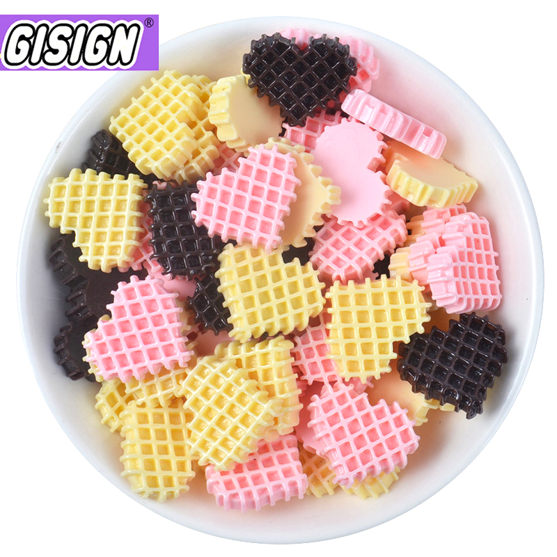 Resin Love Cookies Decor For Slime Charms Polymer Filler Addition Slime Accessories Toys Lizun Supplies Model Clay Kit For Kids