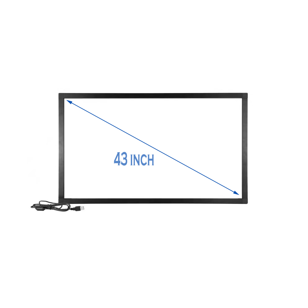 43 inch IR touch screen, Infrared 10 touchpoint, pulg and play, without glass