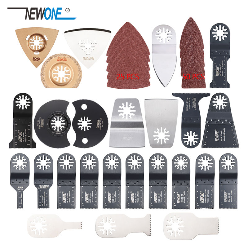 100 Pcs Oscillating Multi Tool Saw Blades For Renovator Power Tools As Fein Multimaster,Dremel,wood Metal Cutting,free Shipping