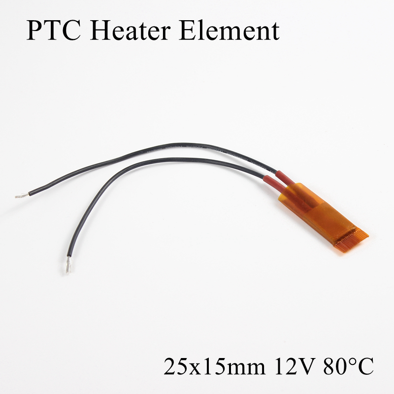 Chip Element Ptc-Heater Air-Heating-Plate Ceramic Insulated-Thermistor 12V 1pc 80-Degree