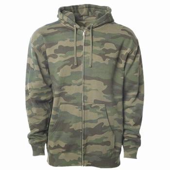 Men's Camouflage Zip Hoodie (Print Faulty) camouflage print zip up jacket