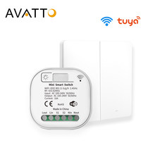 AVATTO Tuya 16A WiFi Switch Module with 2 Way Control, RF No Battery No Wire Smart Home Light Switch Work for Alexa, Google Home