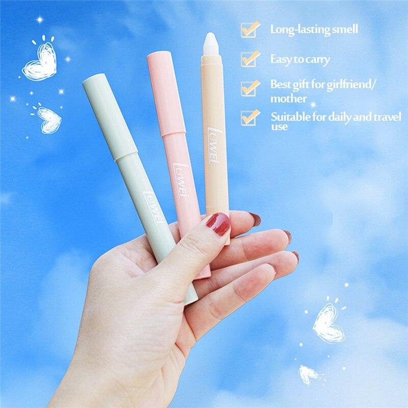 Tragbare Solide Parfüm Stick Düfte Feste Balsam Lang Anhaltende Aroma Deodorant Duft Körper Antitranspirant für Frauen Männer