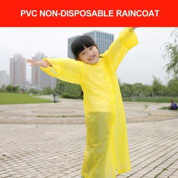 Płaszcz przeciwdeszczowy dla dzieci PVC przezroczysty matowy płaszcz przeciwdeszczowy dla dzieci odzież przeciwdeszczowa Outdoor Hiking Travel płaszcz przeciwdeszczowy motocyklista płaszcz przeciwdeszczowy tanie i dobre opinie CN (pochodzenie) Support