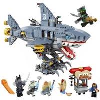 The Ninjago Movie Building Blocks Kit DIY Bricks Shark Garmadon Figures Compatible with Legoinglys Ninja Series 70656Ninja Toy