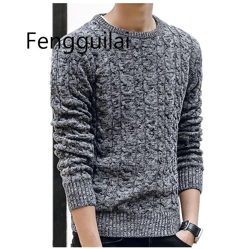 New Mens Sweaters 2020 Fahsion O Neck Autumn Winter Sweater Men Pullover Long Sleeve Casual Men Jumper Sweater Fashion Clothes