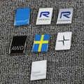 3D autocollant Polestar pour Volvo Polestar autocollant R-DESIGN kilométrage logo coffre couvercle marqué accessoires en alliage de Zinc
