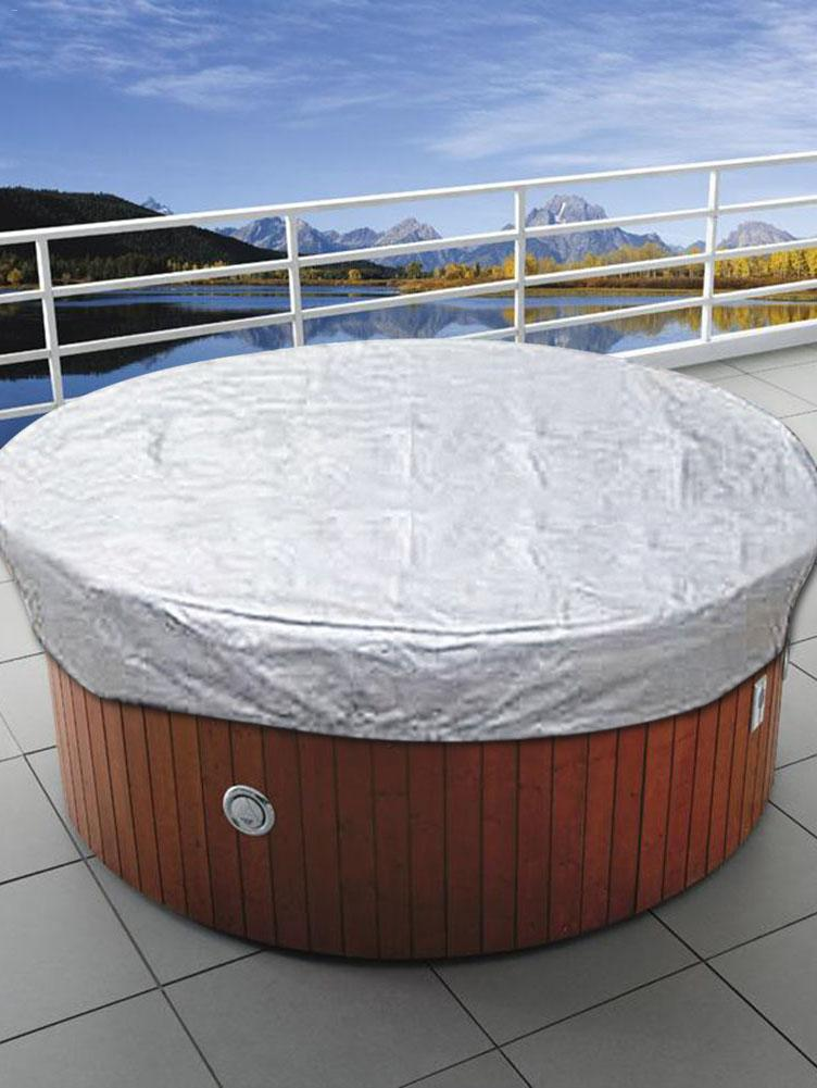 Outdoor SPA Hot Tub Cover Swimming Pool Dust Round Cover