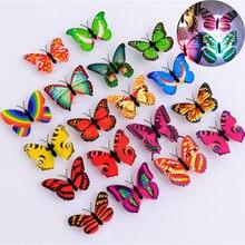 10 шт/лот имитация света Бабочка может быть наклеена бабочки