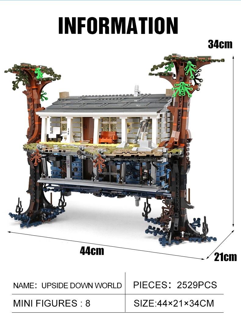 para baixo compatível lepining 75810 modelo blocos