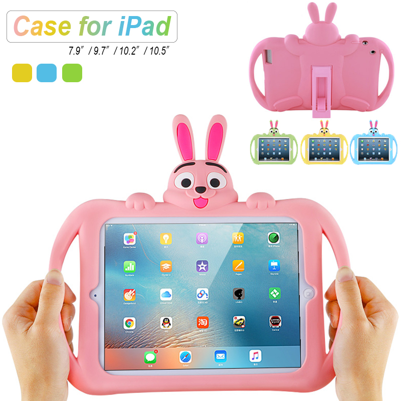 Kids Case for iPad 2 3 4 Soft Silicon Child Lovely Stand Tablet Cover for ipad 9 7 inch 2017 2018 mini 5 4 3 2 1 Air 2 3 pro10 5