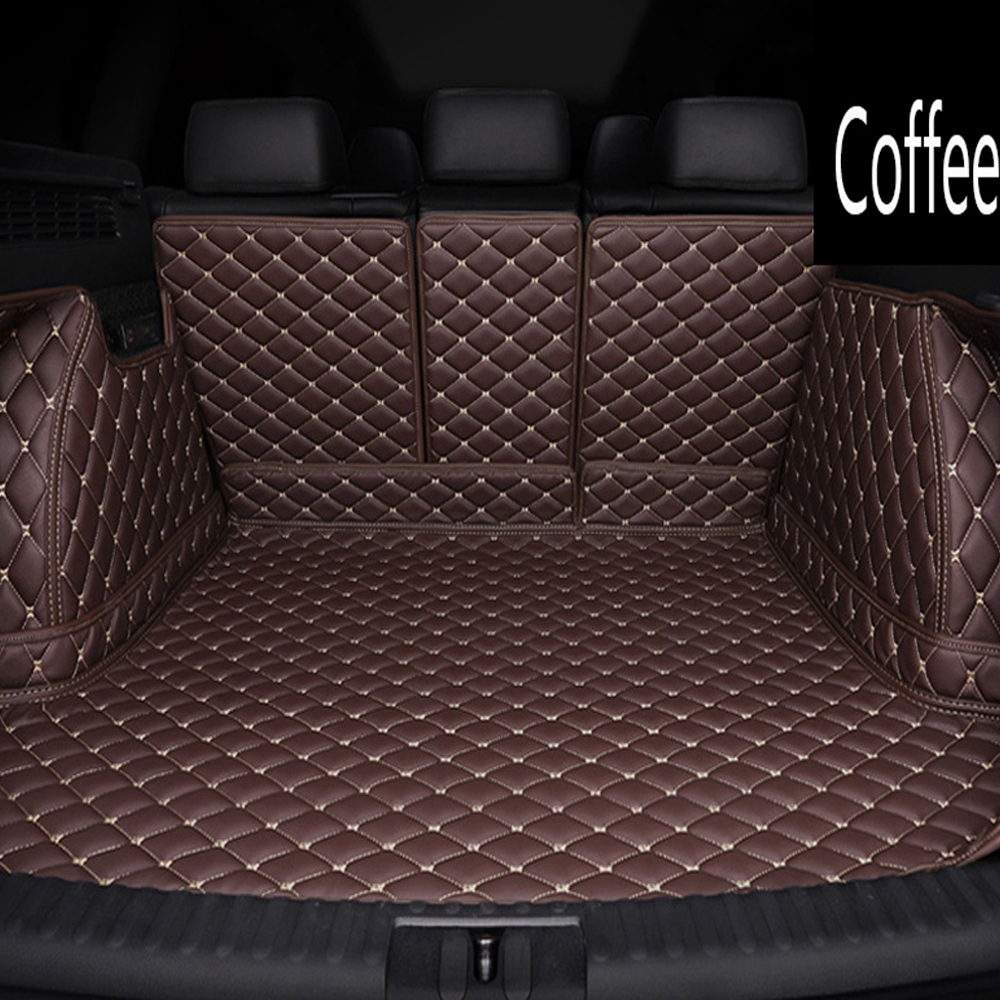 Special 100% Fit Car Trunk Mats For Fiat 500 Viaggio S Freemont Ottimo Waterproof Car-styling Leather Anti-slip Carpet Liners
