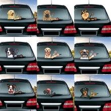 Свирепый Ротвейлер, собака, съемный развевающийся стеклоочиститель, ПВХ, наклейка на заднее стекло, наклейка на заднее лобовое стекло, автомобильная наклейка, украшение для автомобиля