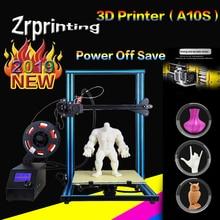 A10S Desktop 3D Printer Half Assembled Kit 0.4mm Nozzle 300*300*400mm Printing Size цена
