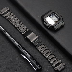 316L Stainless Steel Bezel For G-shock Watch Case&Strap For Casio DW5600 GW5600/5035 GW-M5610 G5600E Modified into GWM-B5000(China)