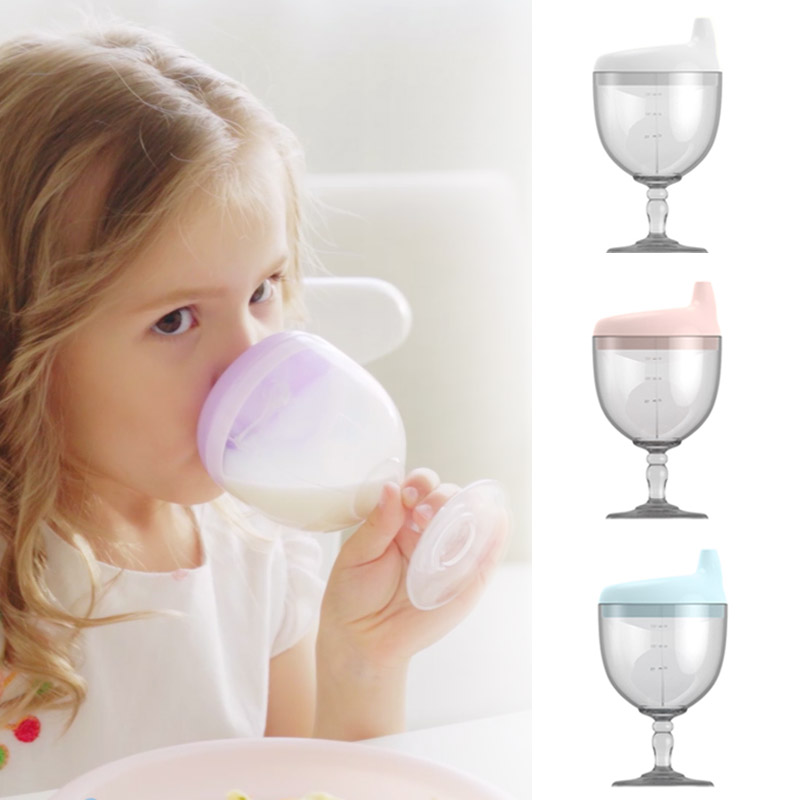 5.69US $ 40% OFF 150ML Baby Goblet Water Bottle Infant Cups With Duckbill Mouth Shape For Feeding Ba...