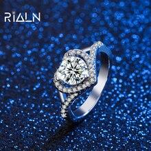 Простой и элегантный муассанит кольцо в форме сердца дизайн сияние блеск классический женский% 27s украшения кольцо