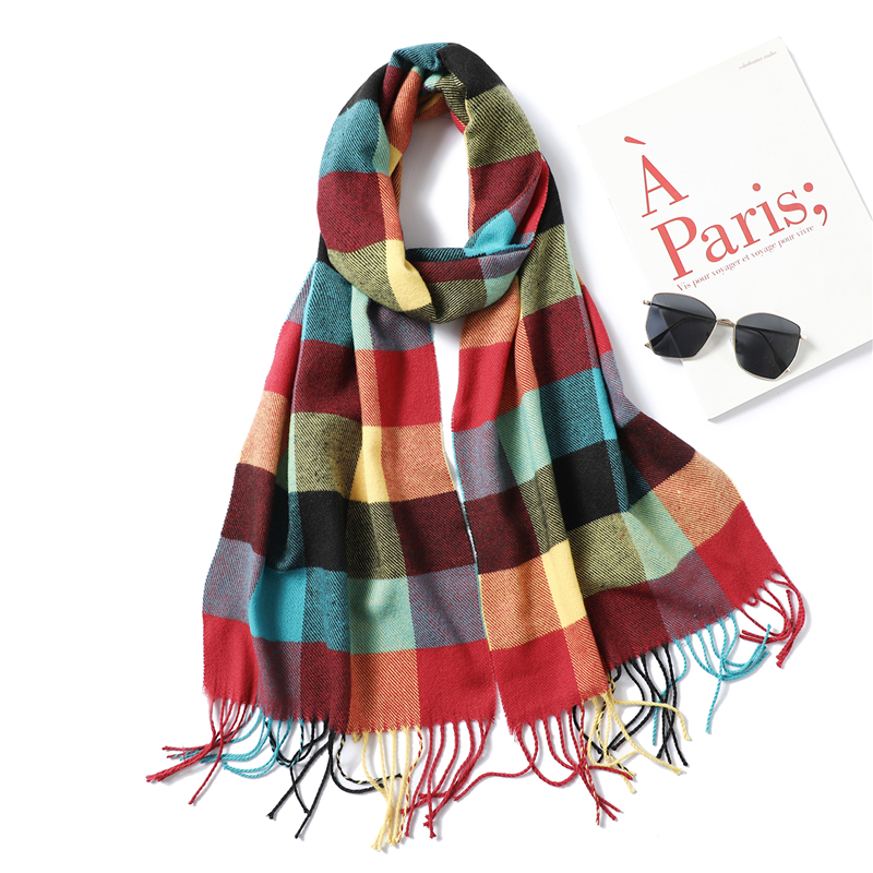 Designer Brand Women Scarf 2020 Autumn Winter Cashmere Scarves For Children Lady's Shawls Long Size Pashmina Bandana Foulard
