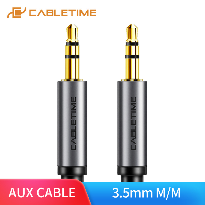 CABLETIME 3.5mm Aux Cable Headphone Extension Cable Jack 3.5 Male To Male Stereo Audio Cable Adapter For Car Mobile Speaker C103
