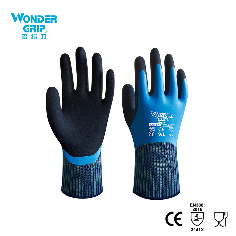 Wonder Grip guantes de trabajo de seguridad guante de seguridad totalmente sumergido guantes impermeables a prueba de frío guantes impermeables