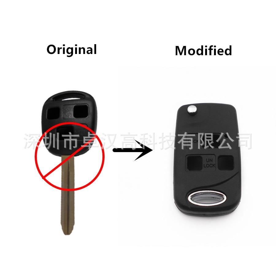 For Toyota Land Cruiser / Prado Instead of Original Factory Auto Car Key KETO New 3 Buttons Change Car Key Shell